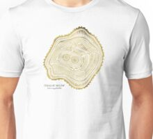 Peachleaf Willow – Gold Tree Rings Unisex T-Shirt