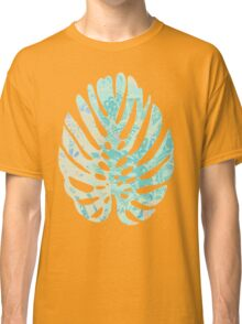 Hand drawn watercolor pattern with  monstera leaves Classic T-Shirt