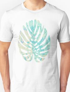 Hand drawn watercolor pattern with  monstera leaves Unisex T-Shirt