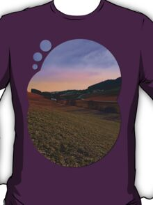 Beautiful valley scenery in the evening | landscape photography T-Shirt