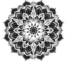 Mandala Hex Inv 1 Photographic Print