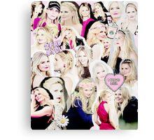 Jennifer Morrison Collage Canvas Print