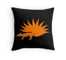 NARUTO: Nine-Tails Kurama Star Fox Logo - Orange Throw Pillow