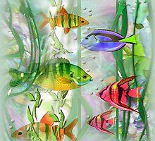 Little Fish..Little Fish pillow by Robin Pushe'e