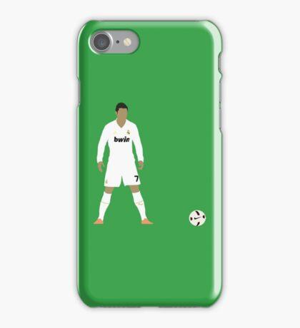 Cristiano Ronaldo Minimalist Design with ball iPhone Case/Skin