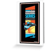 Bouldering world cup series_Meiringen Greeting Card