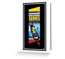 Bouldering world cup series_United States Greeting Card