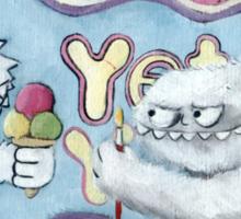 Yeti and his Logo Sticker