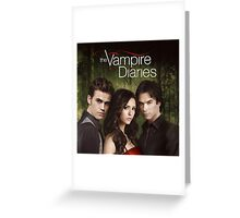 The Vampire Diaries Cover Greeting Card