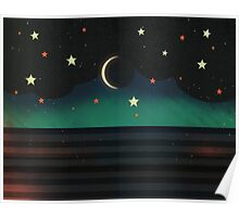 Abstract Moonscape Poster