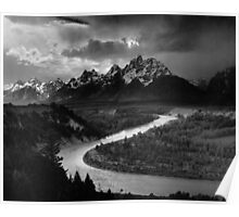 Ansel Adams - Grand Tetons and Snake River Poster