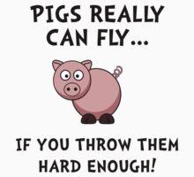 Pigs Fly Throw Kids Tee