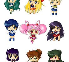 Chibi Sailor Scouts by artwaste