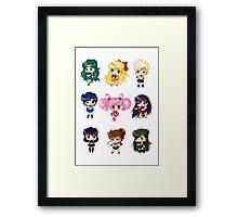 Chibi Sailor Scouts Framed Print