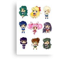Chibi Sailor Scouts Metal Print