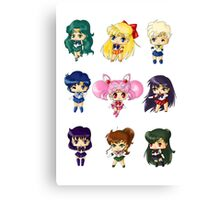Chibi Sailor Scouts Canvas Print