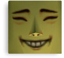 Happy Mask Salesman is Happy Canvas Print