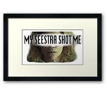 Helena - My Seestra Shot Me Framed Print