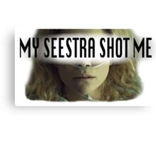 Helena - My Seestra Shot Me Canvas Print