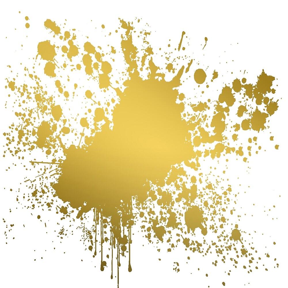 Black And Gold Paint Splatter