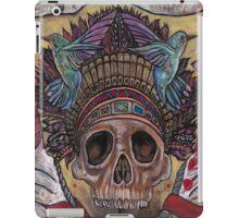 skull with hummingbirds iPad Case/Skin