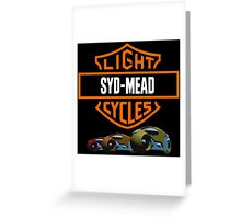 Syd Mead Light Cycles Greeting Card