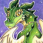 Cute Green Dragon Throw Pillow by cybercat