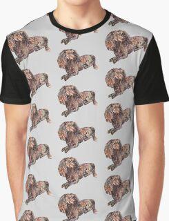 Dachshund Dog Pattern  Graphic T-Shirt