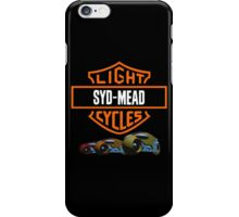 Syd Mead Light Cycles iPhone Case/Skin