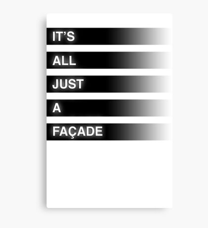 It's All Just A Façade (Faded) Canvas Print