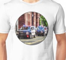 Line of Police Cars Unisex T-Shirt