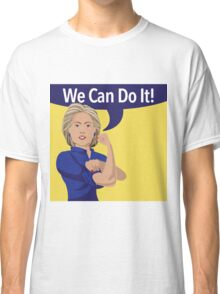 cartoon of Hillary Clinton as Rosie the Riveter Classic T-Shirt