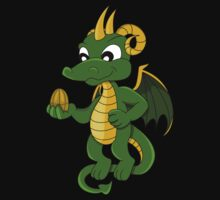 Cute little green dragon cartoon  Kids Clothes