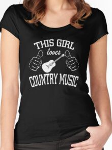 This Girl Loves Country Music Women's Fitted Scoop T-Shirt