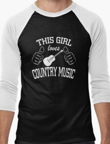This Girl Loves Country Music Men's Baseball ¾ T-Shirt