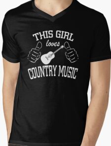 This Girl Loves Country Music Mens V-Neck T-Shirt