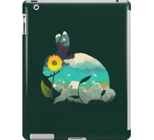 Rabbit Sky (Forest Green) iPad Case/Skin