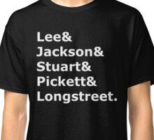 Confederate Generals (White) Classic T-Shirt