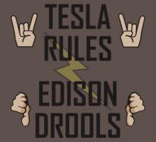 Tesla Rules Edison Drools One Piece - Short Sleeve