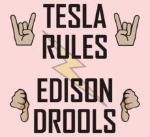 Tesla Rules Edison Drools Kids Tee
