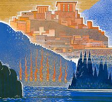 The City of Troy from the Sea by Bridgeman Art Library