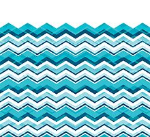 Cool Blue Chevron by Silvia Neto