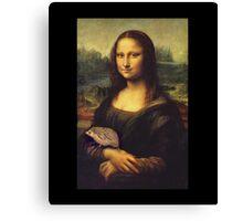 Mona Lisa Hedgehog Canvas Print