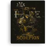 Mortal Kombat Scorpion get over here Canvas Print
