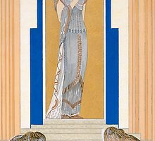 Weeping Penelope and her attendants, an illustration from 'L'Odyssee' by Bridgeman Art Library