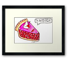 Cherry Pie Pi Framed Print