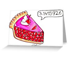 Cherry Pie Pi Greeting Card