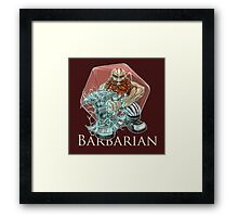 Dungeons and Dragons Barbarian Framed Print