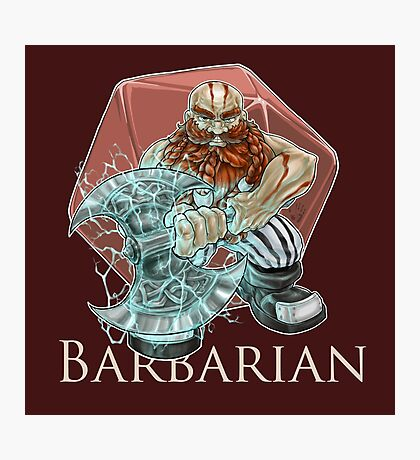 Dungeons and Dragons Barbarian Photographic Print