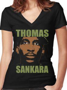 Thomas Sankara-3 Women's Fitted V-Neck T-Shirt